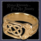 18 K Green Gold Celtic Ring Picture