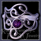 Sterling Silver and Amethyst 'Eye Candy II' Ring Image