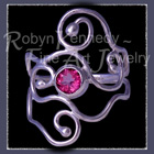 Sterling Silver and Pure Pink Topaz 'Eye Candy IV' Ring Image