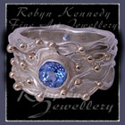 10 Karat Yellow Gold, Sterling Silver and Paradise Blue Topaz 'Gem Joy Ring Image