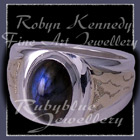 10 Karat Yellow Gold, Sterling Silver and Canadian Labradorite 'New Roots' Ring Image