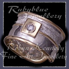 18 Karat Yellow Gold, Sterling Silver and Diamond 'Rosemary's Forever' Ring