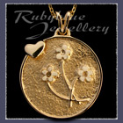 Gold 'Heart and Flowers' Pendant Image