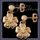 Gold 'Single Bloom' Ballstud EarringsImage