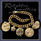 Gold Charm Bracelet with Gold Charms Image