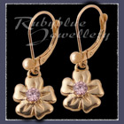Gold 'Single Bloom' Euroback Earrings Image