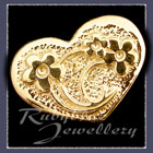 Gold 'Heart' Lapel Pin Image