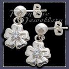 Sterling Silver 'Single Bloom' Ballstud Earrings Image