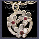 Sterling Silver 'Circle of Flowers'  Charm with Gemstones Image