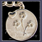 Sterling Silver 'Heart and Flowers' Charm Image