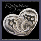 Sterling Silver 'Heart' Lapel Pin Image