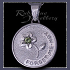 Sterling Silver 'Engraved' Pendant set with January Birthstone Image