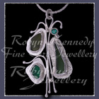 Sterling Silver, Great Lakes Beach Glass and Rainforest Green Topaz 'Beachglass' Pendant 11 Image