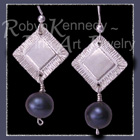 Sterling Silver and Cultured Black Freshwater Pearls 'Tribal Glam II' Earrings Image