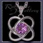 Sterling Silver and Swarovski Alexandrite 'Amity' Pendant Image