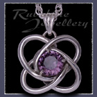 Sterling Silver and Swarovski Amethyst 'Amity' Pendant Image