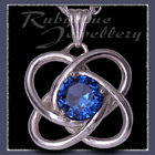Sterling Silver and Blue Zircon 'Amity' Pendant Image