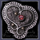10 Karat Yellow Gold, Sterling Silver and Pink Topaz 'Braveheart' Pendant / Brooch Image