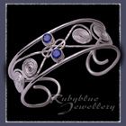Sterling Silver and Gemstones 'Calypso' Cuff / Bracelet image