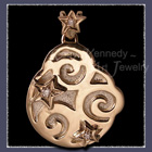 10 Karat Yellow Gold, Sterling Silver and Diamonds 'Celebrate' Pendant Image