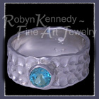 Argentium Silver and Teal Topaz 'Charisma Ring Image
