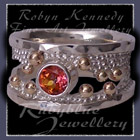 10 Karat Yellow Gold, Sterling Silver & Sunrise Topaz 'Chic' Ring Image