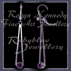 Sterling Silver and Genuine  Amethyst 'Cleopatra' Earrings Image