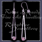 Sterling Silver and Genuine Baby Pink Topaz  'Cleopatra' Earrings Image