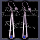 Sterling Silver and Genuine Glacier Blue Diffused Topaz 'Cleopatra' Earrings Image