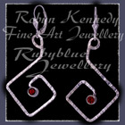 Sterling Silver and Mozambique Garnet 'Coronet' Earrings Image