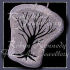 Sterlium Sterling Silver 'Cosmic Tree I' Pendant Image