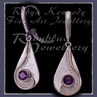 10 Karat Yellow Gold, Sterling Silver and AA Amethyst 'Dreamland' Earrings Image