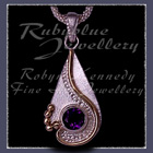 10 Karat Yellow Gold, Sterling Silver and Amethyst 'Dreamland' Pendant  Image
