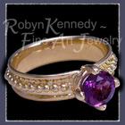 18 Karat Yellow Gold and Amethyst 'Empress' Ring Image