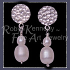 Sterling Silver and Cultured Freshwater White Pearls 'Fairlady' Earrings Image