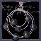 Sterling Silver and Cultured Freshwater Black Pearls 'Galaxy' Pendant