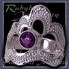 Sterling Silver and AA Amethyst 'Grace' Ring Image