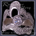 Sterling Silver and Cubic Zirconia 'Grace' Ring Image