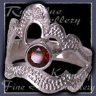 Sterling Silver and Mozambique Garnet 'Grace' Ring Image