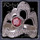 Sterling Silver and Passion Pink Topaz 'Grace' Ring Image