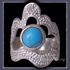 Sterling Silver and Kingman Topaz 'Grace' Ring Image
