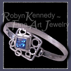 Sterling Silver and Fantasy cut Glacier Blue Topaz 'Ice Capades'  Bracelet Image