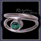 Sterling Silver and Genuine Rainforest Green Topaz 'Iris' Ring Image