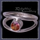 Sterling Silver and Genuine Sunrise Topaz 'Iris' Ring Image