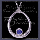 Sterling Silver and Imitation Blue Sapphire 'Kismet' Necklace Image