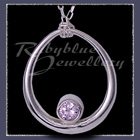Sterling Silver and Lavendar Cubic Zirconia 'Kismet' Necklace Image