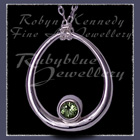 Sterling Silver and Peridot 'Kismet' Necklace Image