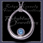Sterling Silver and Swiss Blue Topaz 'Kismet' Necklace Image