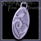 Sterling Silver 'Love Robin' Pendant / Keychain Fob Image