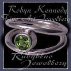 Sterling Silver and Genuine Peridot 'Iris' Ring Image